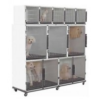 Edemco 10-12 Unit White Cage Bank
