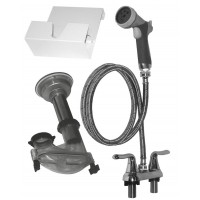 Edemco 4 Inch Wall Mount Plumbing Kit