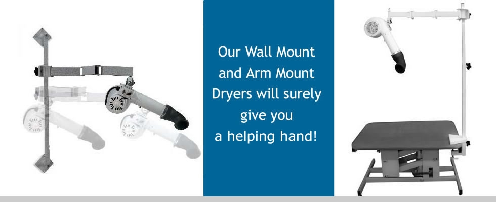 Edemco Arm Mount and Wall Mount Dryers